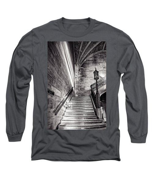 Stairs Of The Past Long Sleeve T-Shirt by CJ Schmit