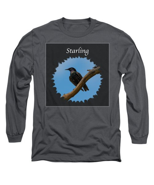 Starling   Long Sleeve T-Shirt by Jan M Holden