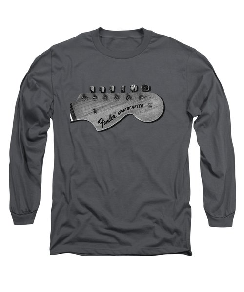 Stratocaster Head Long Sleeve T-Shirt by Mark Rogan
