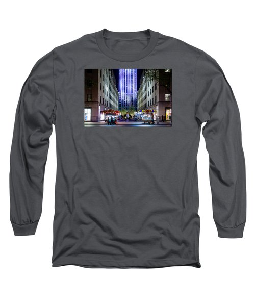 Long Sleeve T-Shirt featuring the photograph Rockefeller Center by M G Whittingham