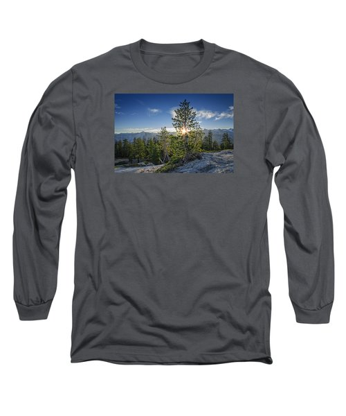 Sunrise On Sentinel Dome Long Sleeve T-Shirt by Rick Berk