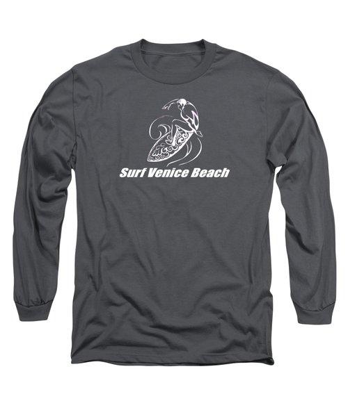 Surf Venice Beach Long Sleeve T-Shirt by Brian Edward