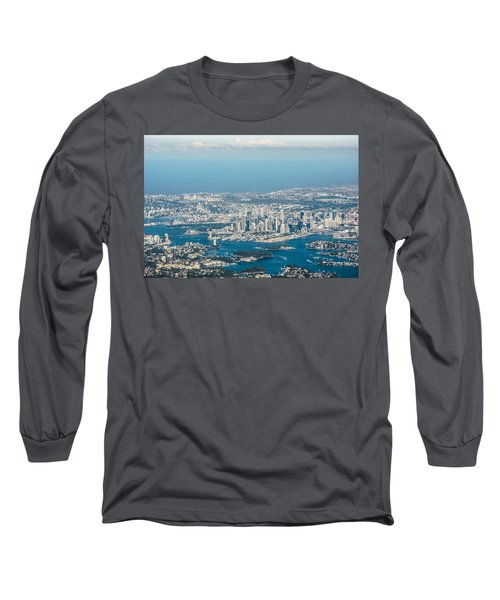 Sydney From The Air Long Sleeve T-Shirt by Parker Cunningham