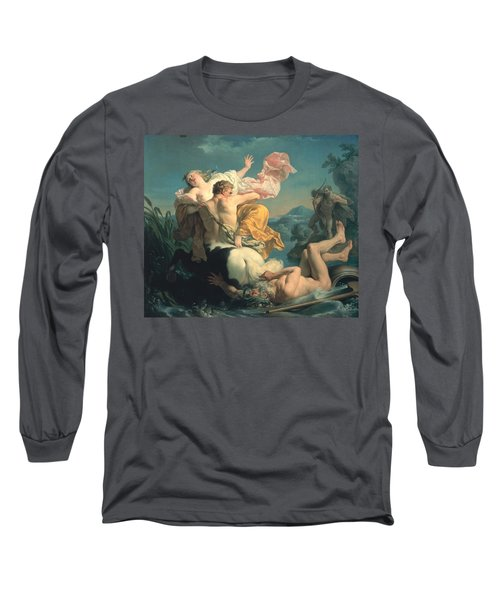 The Abduction Of Deianeira By The Centaur Nessus Long Sleeve T-Shirt by Louis Jean Francois Lagrenee