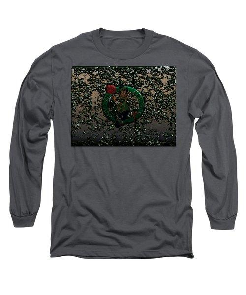The Boston Celtics 1c Long Sleeve T-Shirt by Brian Reaves