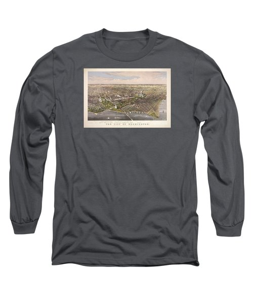 The City Of Washington Long Sleeve T-Shirt by Charles Richard Parsons