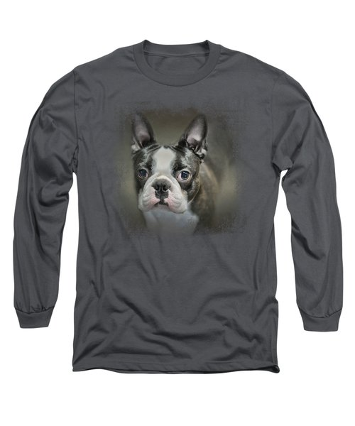 The Face Of The Boston Long Sleeve T-Shirt by Jai Johnson
