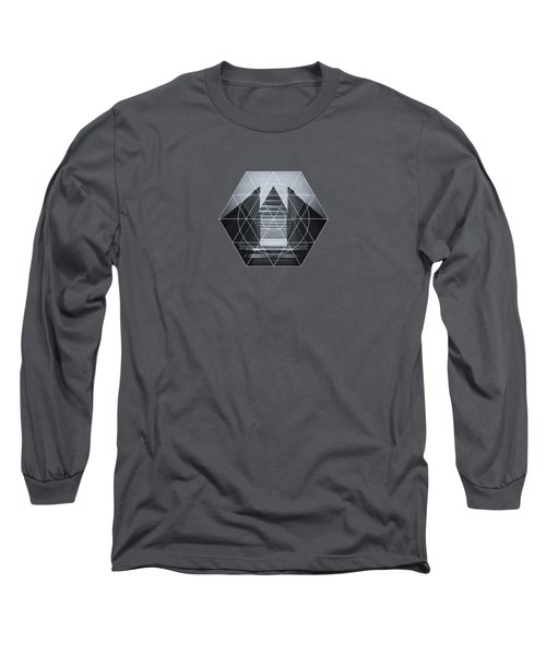 The Hotel Experimental Futuristic Architecture Photo Art In Modern Black And White Long Sleeve T-Shirt by Philipp Rietz