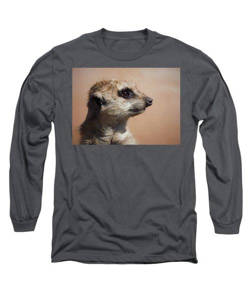 The Meerkat Da Long Sleeve T-Shirt by Ernie Echols