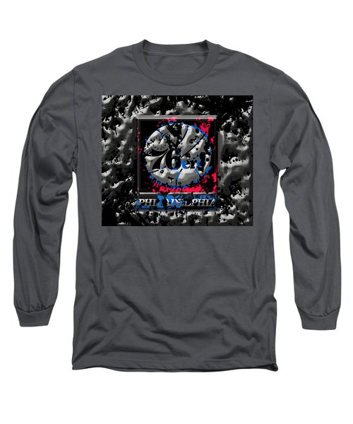 The Philadelphia 76ers Long Sleeve T-Shirt by Brian Reaves
