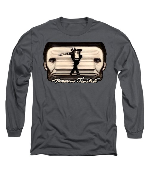 The Spaghettification Of Mike And Abe Long Sleeve T-Shirt by Norman Twisted