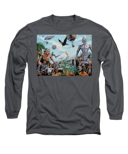 The World Of Ray Harryhausen Long Sleeve T-Shirt by Tony Banos