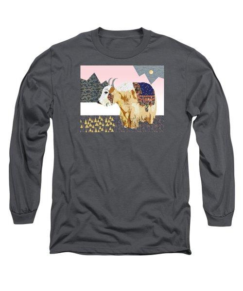 Tibet Yak Collage Long Sleeve T-Shirt by Claudia Schoen