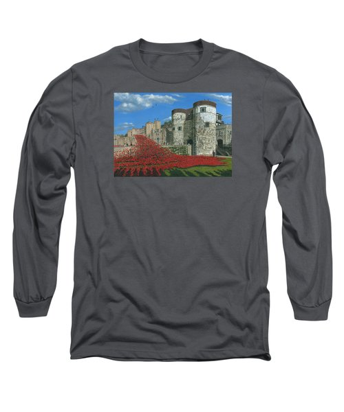 Tower Of London Poppies - Blood Swept Lands And Seas Of Red  Long Sleeve T-Shirt by Richard Harpum