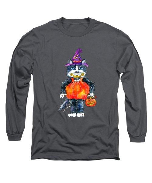 Trick Or Treat Long Sleeve T-Shirt by Shelley Wallace Ylst
