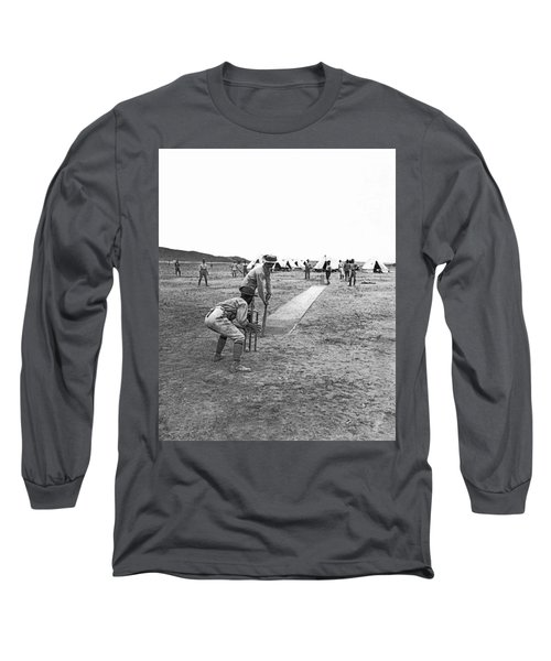 Troops Playing Cricket Long Sleeve T-Shirt by Underwood Archives