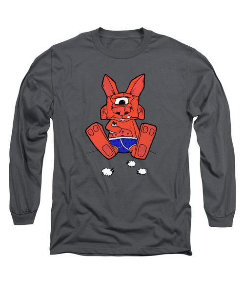 Uno The Cyclops Bunny Long Sleeve T-Shirt by Bizarre Bunny