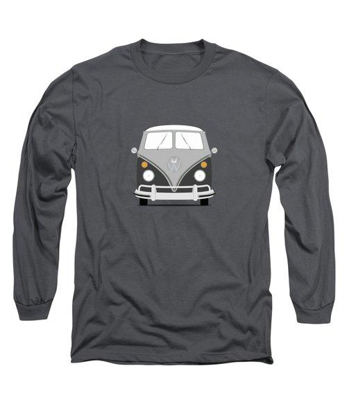 Vw Bus Grey Long Sleeve T-Shirt by Mark Rogan