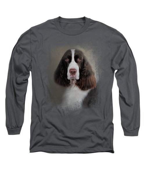 Waiting Patiently - English Springer Spaniel Long Sleeve T-Shirt by Jai Johnson
