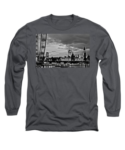 Westminster Black And White Long Sleeve T-Shirt by Dawn OConnor