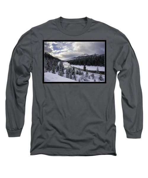 Winter In The Rockies Long Sleeve T-Shirt by J and j Imagery