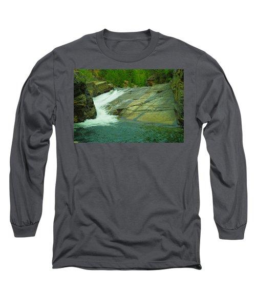 Yak Falls   Long Sleeve T-Shirt by Jeff Swan