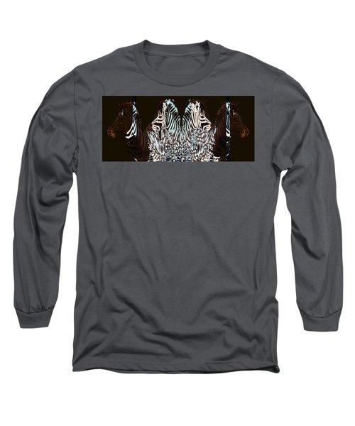 Zebraic Equation Long Sleeve T-Shirt by Stephanie Grant