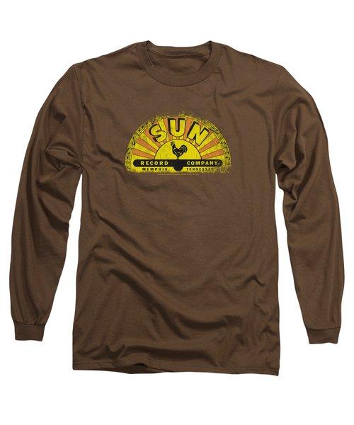 Sun - Vintage Logo Long Sleeve T-Shirt by Brand A