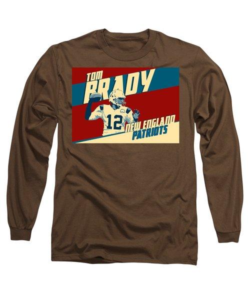 Tom Brady Long Sleeve T-Shirt by Taylan Apukovska