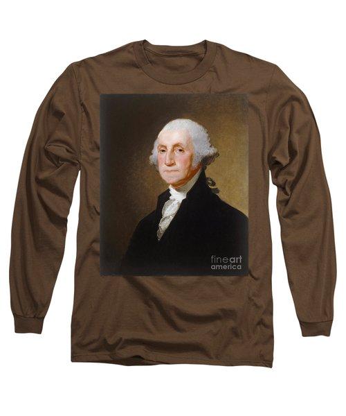 George Washington Long Sleeve T-Shirt by Gilbert Stuart