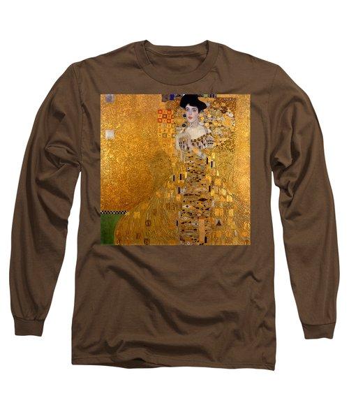 Adele Bloch Bauers Portrait Long Sleeve T-Shirt by Gustive Klimt