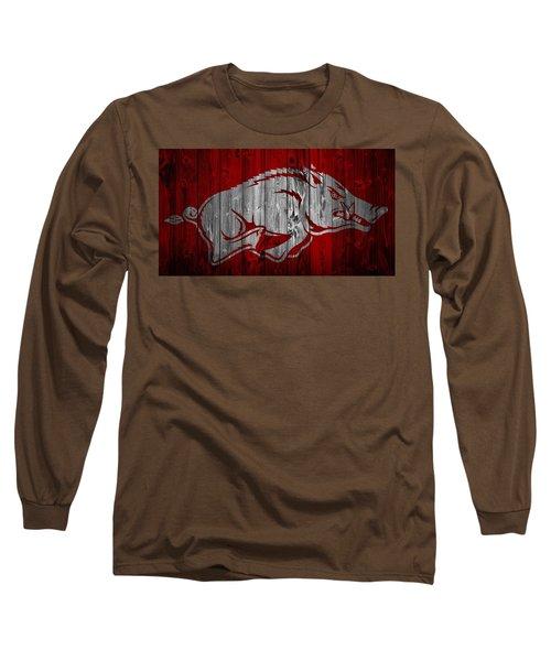 Arkansas Razorbacks Barn Door Long Sleeve T-Shirt by Dan Sproul