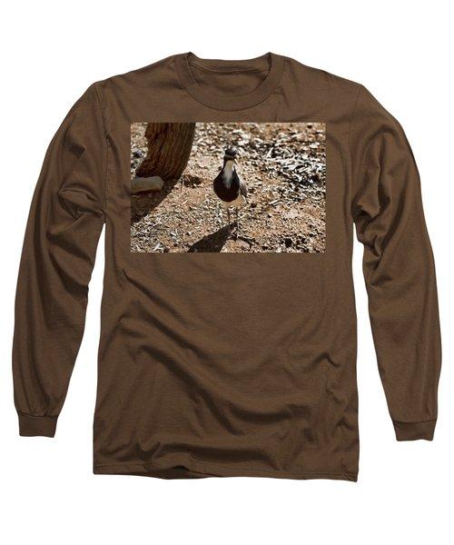 Banded Lapwing Long Sleeve T-Shirt by Douglas Barnard