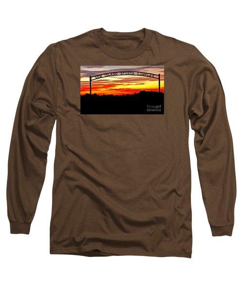 Beautiful Sunset And Emmett Sport Comples Long Sleeve T-Shirt by Robert Bales