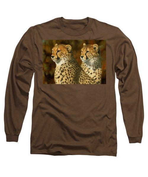 Cheetah Brothers Long Sleeve T-Shirt by David Stribbling