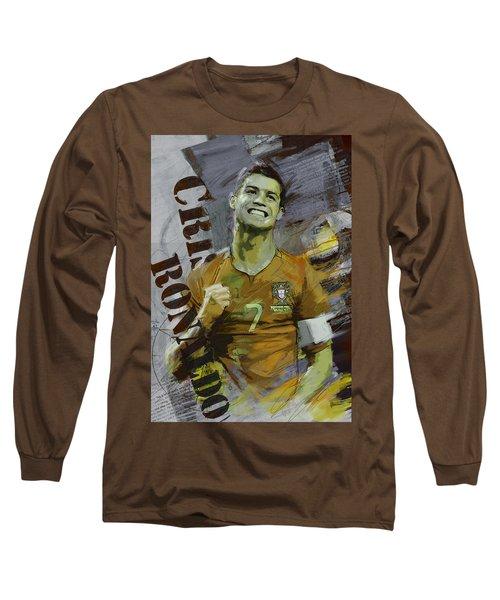 Cristiano Ronaldo Long Sleeve T-Shirt by Corporate Art Task Force
