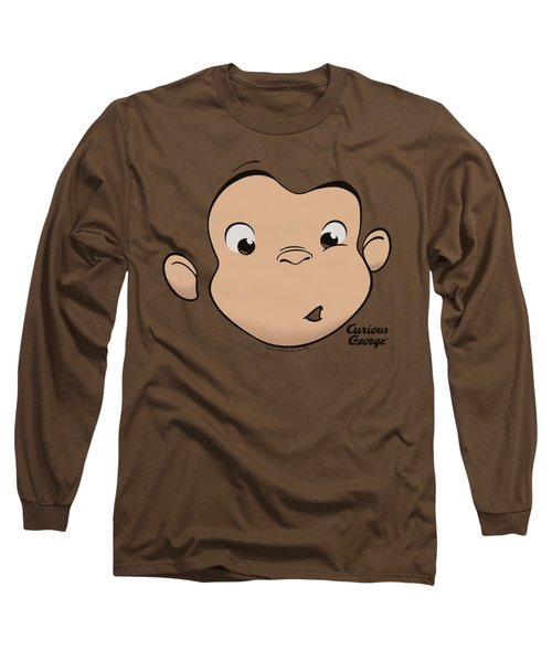 Curious George - George Face Long Sleeve T-Shirt by Brand A