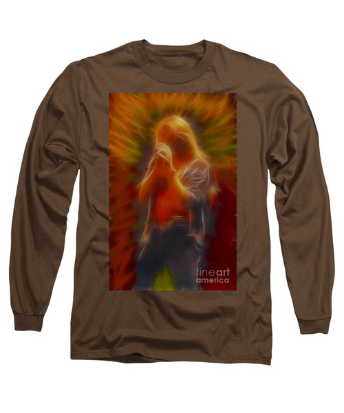 Def Leppard-adrenalize-joe-gb20-fractal Long Sleeve T-Shirt by Gary Gingrich Galleries