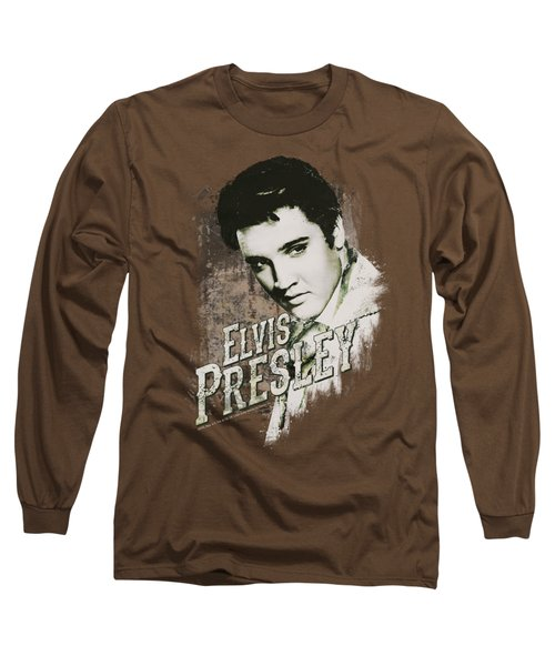 Elvis - Rugged Elvis Long Sleeve T-Shirt by Brand A