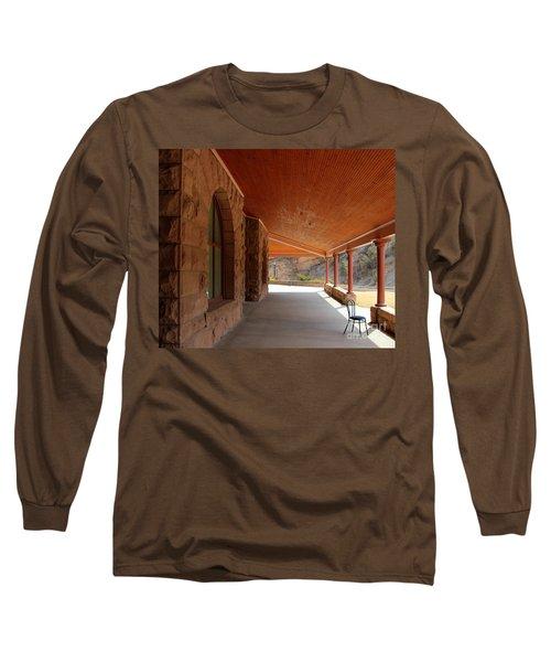 Long Sleeve T-Shirt featuring the photograph Evans Porch by Bill Gabbert