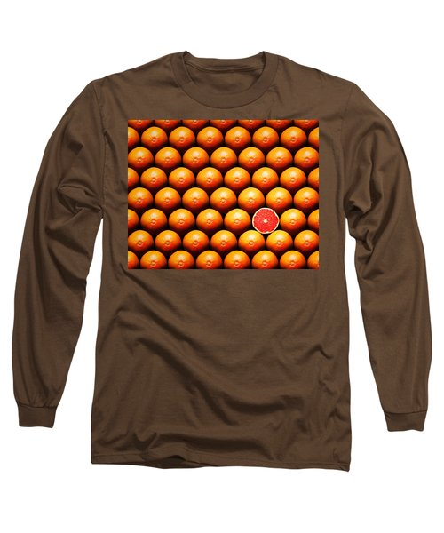 Grapefruit Slice Between Group Long Sleeve T-Shirt by Johan Swanepoel