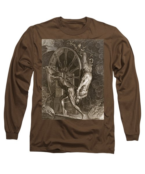 Ixion In Tartarus On The Wheel, 1731 Long Sleeve T-Shirt by Bernard Picart