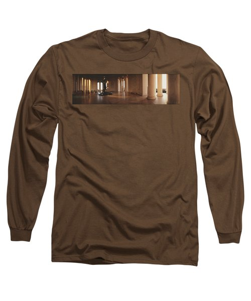 Jefferson Memorial Washington Dc Usa Long Sleeve T-Shirt by Panoramic Images