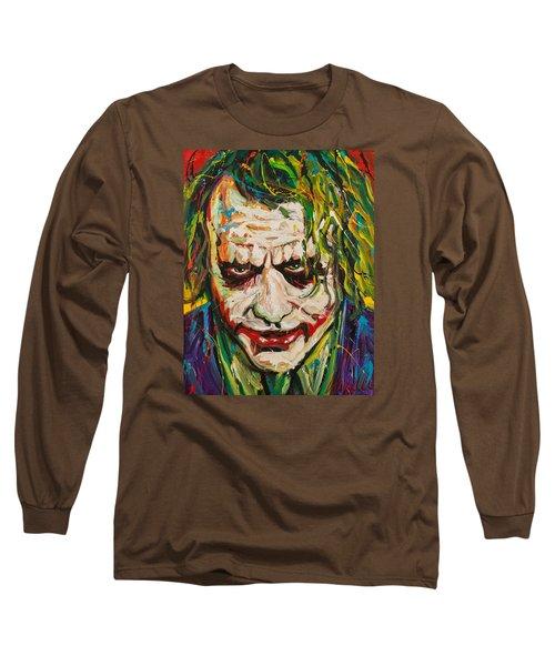 Joker Long Sleeve T-Shirt by Michael Wardle