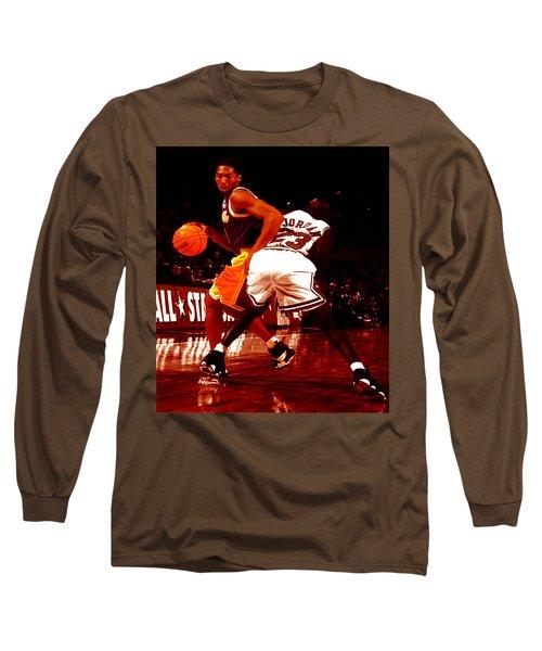 Kobe Spin Move Long Sleeve T-Shirt by Brian Reaves