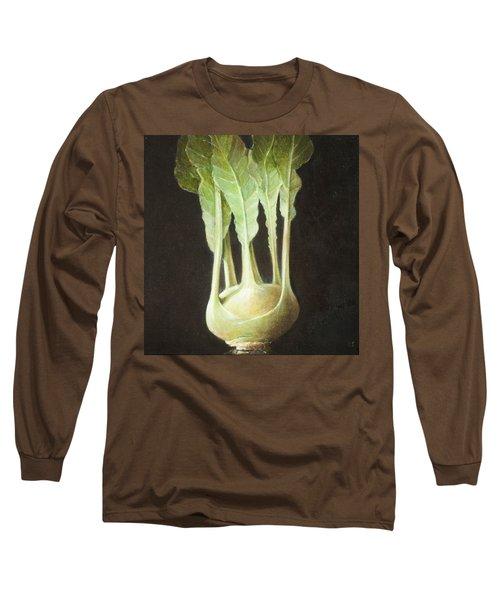 Kohl Rabi, 2012 Acrylic On Canvas Long Sleeve T-Shirt by Lincoln Seligman