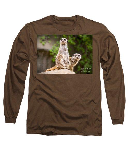 Meerkat Pair Long Sleeve T-Shirt by Jamie Pham