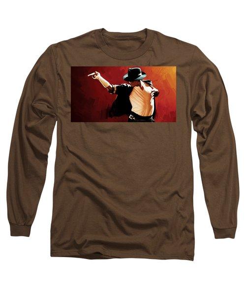 Michael Jackson Artwork 4 Long Sleeve T-Shirt by Sheraz A