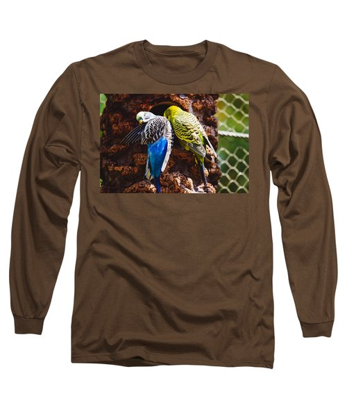 Parakeets Long Sleeve T-Shirt by Pati Photography