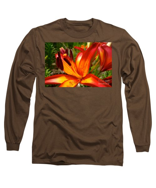 Royal Sunset Lily Long Sleeve T-Shirt by Jacqueline Athmann